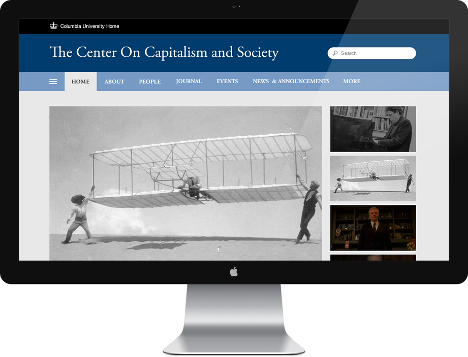 Drupal website design for Columbia University
