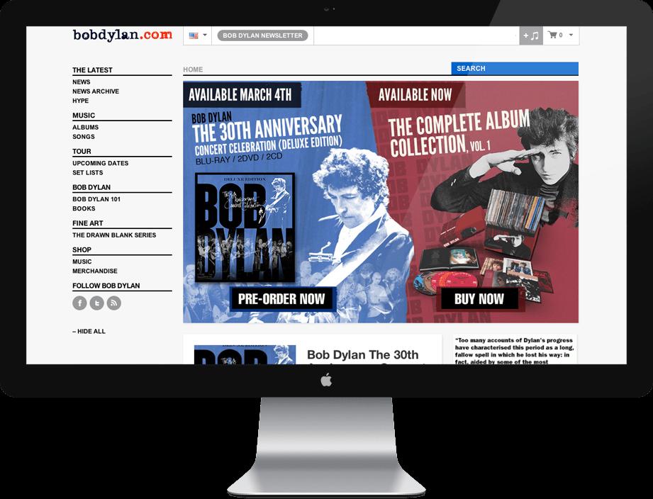 BobDylan.com for Sony Music