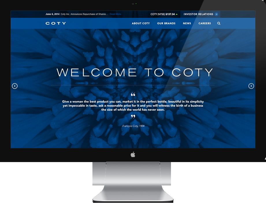 COTY.com: a Drupal Website