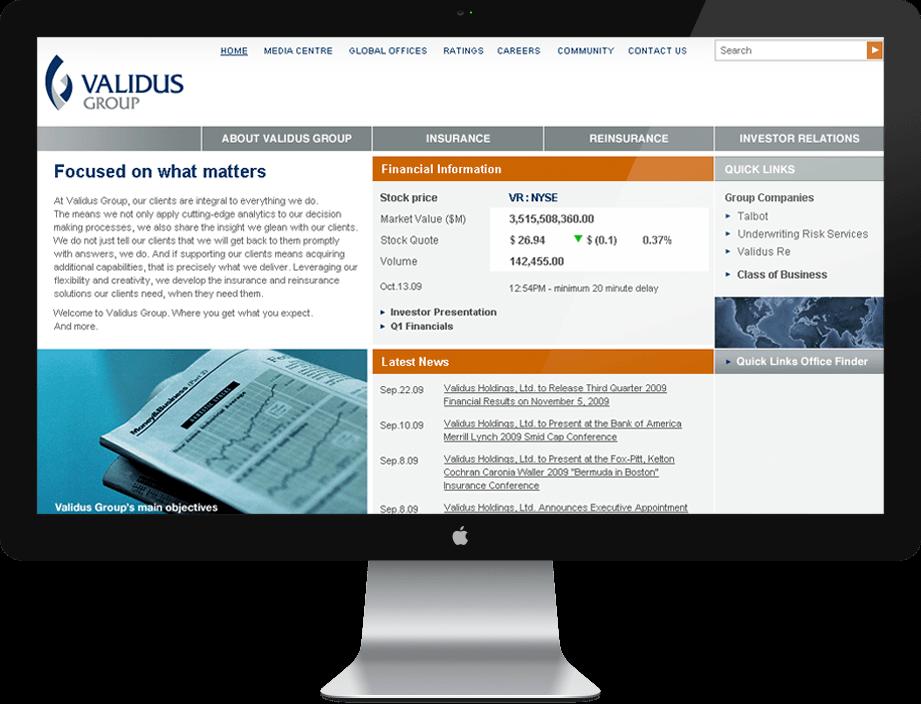 Drupal Developer for Validus Holdings