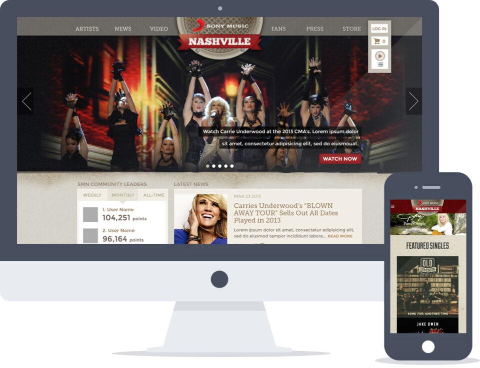 Drupal + API Integration for Sony Music Nashville