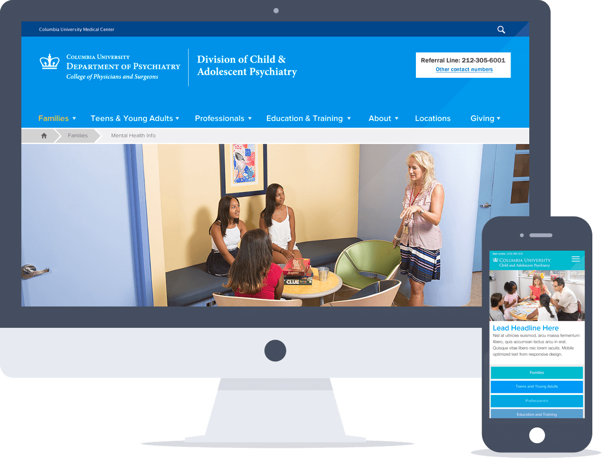 Drupal Website for Columbia University Division of Child Psych