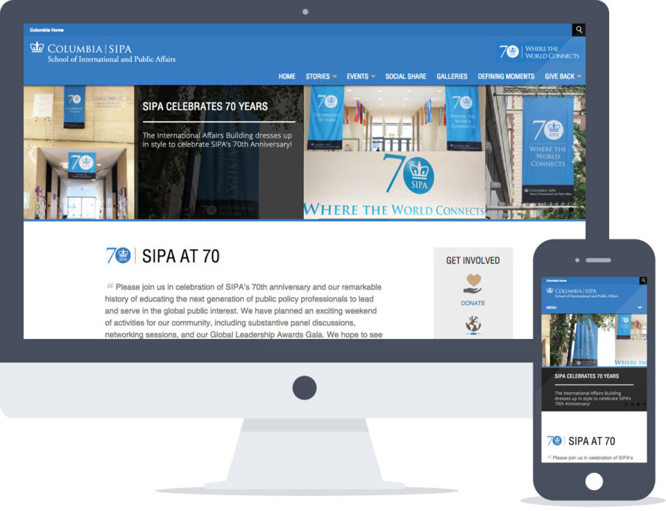 Microsite Built Into Existing Drupal Website for Columbia University