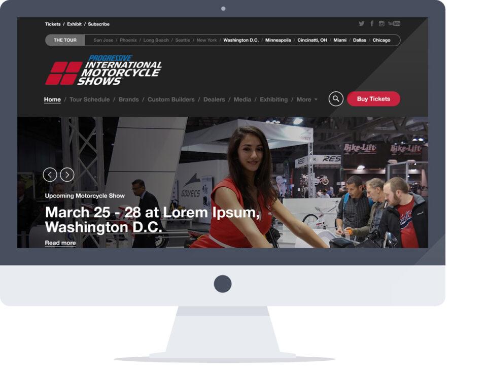 Web Design for Progressive International Motorcycle Shows Website