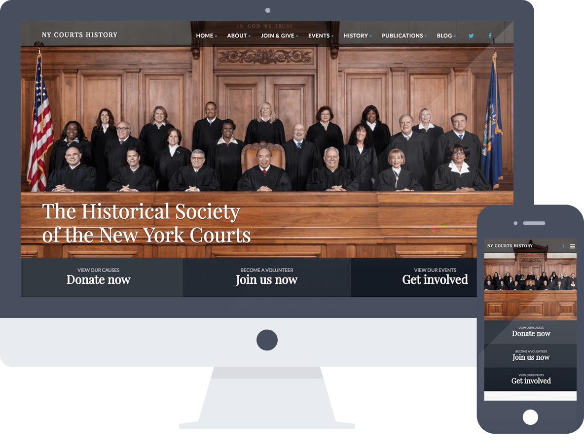 WordPress Development for the Historical Society of the New York Courts